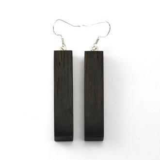 Серьги из дерева с эпоксидной смолой (133)