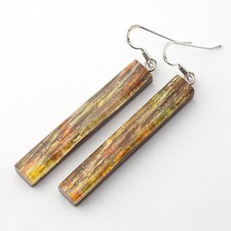 Серьги из дерева с эпоксидной смолой (498)