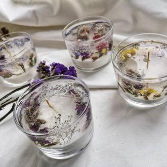 Гелевые свечи с цветами