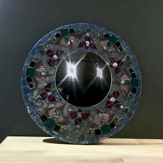 Зеркало Мандала интерьерное,  для макияжа , декор из мозаики