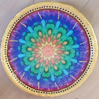 Блюдо кераміка тарілка 40-42 см велика настінна