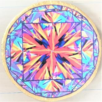 """Тарілка """"Спектр світанку 2"""" 42 см кераміка настінна велика керамічне Блюдо"""