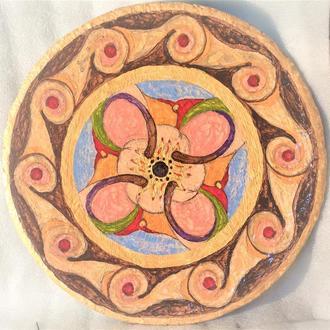 """Тарелка """"Небо""""  42 см керамика настенная большая Блюдо керамическое"""