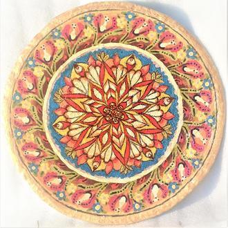 """Тарелка """"Бутон"""" 42 см керамика настенная большая Блюдо керамическое"""