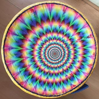 """Декоративная тарелка диаметром 38 см """"Восхитительное движение""""  шамотной трипольской глины"""