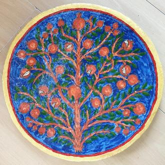 """Декоративная тарелка диаметром """"Византия"""" из высококачественного шамотной трипольской глины"""