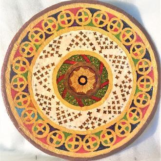 """Декоративная тарелка диаметром 42 см """"Glory Eternity"""" трипольской глины"""
