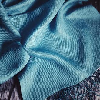 Тканый женский шарф из шелка и льна
