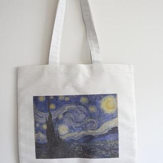 Еко сумка арт принт Ван Гог Зоряна ніч
