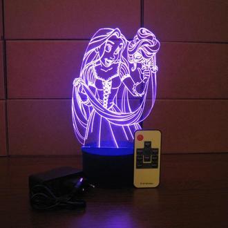 Рапунцель, ночник, светильник, LED лампа, игрушка, подарок для девочки, принцесса декор детской