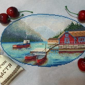 """Схема для вышивки крестом """"Норвегия, озеро Lovatnet"""""""