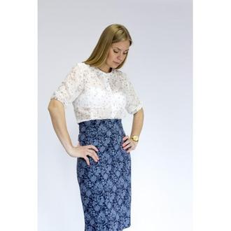 Юбка-карандаш DASTI Light Skirts синяя
