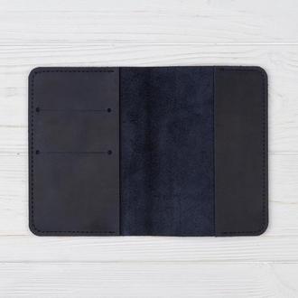 Кожаная обложка на паспорт Mr.Brown с отделениями для карт