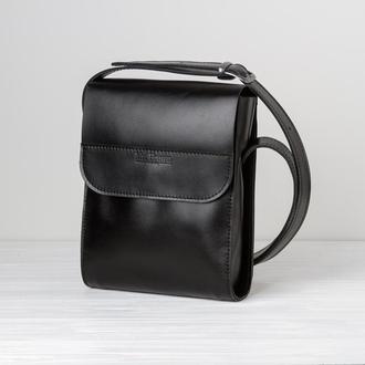 Мужская кожаная сумка Medium - 2 вида кожи, 15 оттенков
