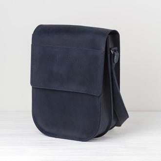 Кожаная мужская сумка с 2-мя отделениями - 2 вида кожи, 15 оттенков