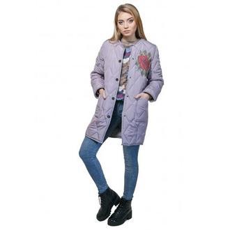Стеганое пальто DASTI Quilted coat серебро