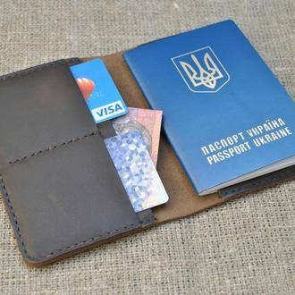 Кожаная обложка для паспорта P02-450
