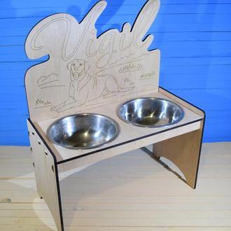 Подставка для собак с мисками