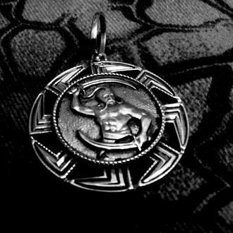 Кулон-Оберіг ′БОЙОВА СВАРГА з мечами′ (срібло)