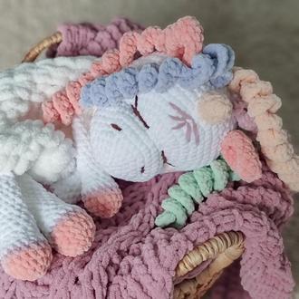 Піжамниця єдиноріг, плюшевий єдиноріг, дитяча іграшка, іграшка для сну, плюшевв іграшка