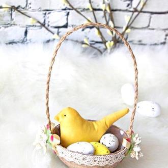Весенняя птичка/ пасхальная композиция/ пасхальная птичка/ пасхальный декор