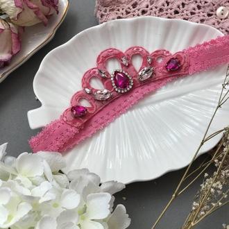 Корона повязка для принцеси рожева 3