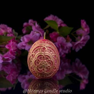 """Свеча """"Яйцо цветок"""""""
