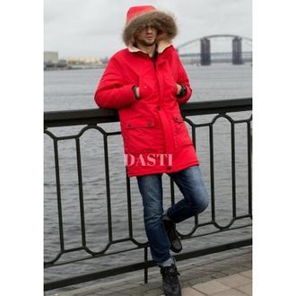 Парка DASTI Snowy красная