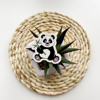 "Значок из дерева ""Панда"""