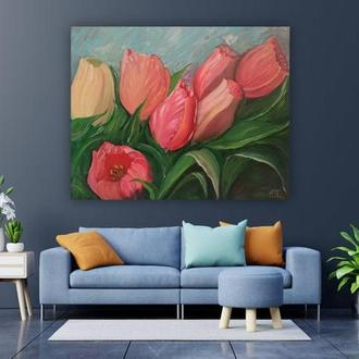 Голландские Тюльпаны Картина маслом