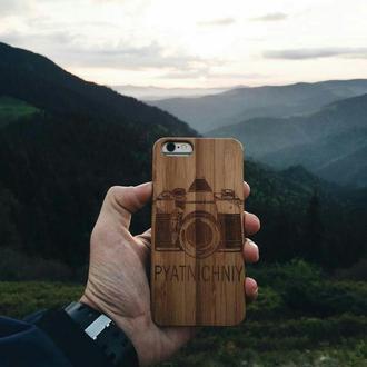 Деревянный чехол, бампер, накладка на iPhone айфон 5,5s,6,6s,7,7+