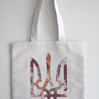 Еко сумка Тризуб квіти