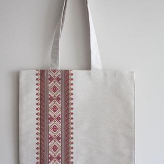 Еко сумка Вишиванка червона