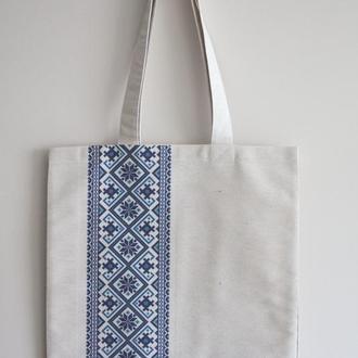 Еко сумка Вишиванка синя