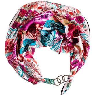 """Шелковый платок """"Весенний прованс"""" от бренда my scarf, подарок женщине. Премиум коллекция!"""