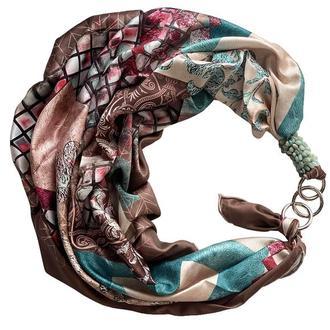"""Шелковый платок """"Завтрак у Тиффани"""" от бренда my scarf, подарок женщине. Премиум коллекция!"""