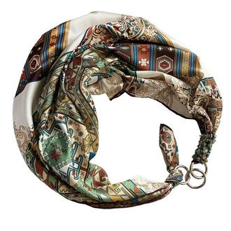 """Шелковый платок """"Изумрудный  шёлк"""" от бренда my scarf, подарок женщине. Премиум коллекция!"""