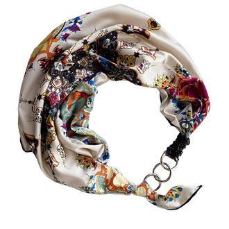 """Шелковый платок """"Нежные мечты"""" от бренда my scarf, подарок женщине. Премиум коллекция!"""