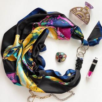 """Дизайнерский платок """"Ночное небо над Каиром"""" от бренда my scarf"""