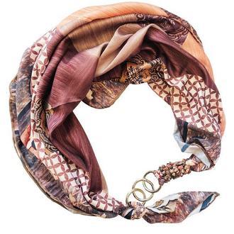 """Шелковый платок """"Персиковый сад"""" от бренда my scarf, подарок женщине. Премиум коллекция!"""