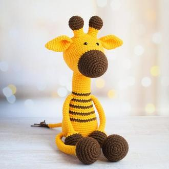 Жираф. Первая игрушка малыша. Подарок новорождённому. Эко-игрушка.