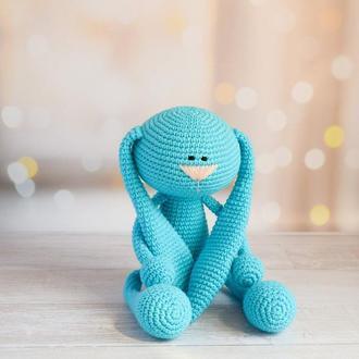 Зайчик. Подарок ребёнку. Первая игрушка. Игрушка для фотосессии с новорождённым.