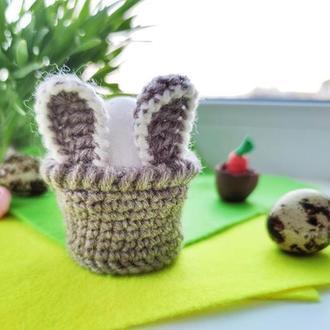 Подставка для яйца «Зайка» («Bunny») (шерсть, акрил, размер яйца СО)