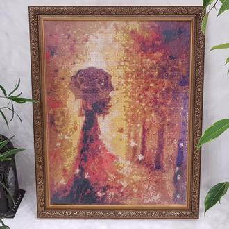 """Замріяна осінь... Картина в техніці """"алмазна вишивка"""""""