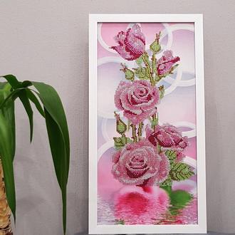 Картина Розы. Алмазная вышивка