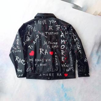 Роспись кожаной куртки