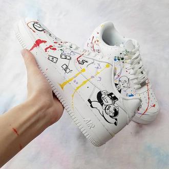 Кроссовки с росписью