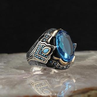 Перстень на безымянный палец турецкий мотив в восточном дизайне ручной работы