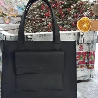 Большая кожаная сумка из натуральной кожи