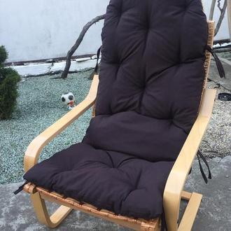 """Кресло """"Амортизатор"""" №1 светлая с коричневой подушкой"""
